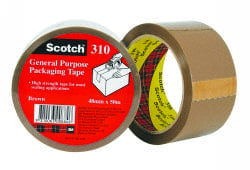 scotch general purpose packaging tape, packing tape, brown tape, bulk tape, carton tape, scotch tape