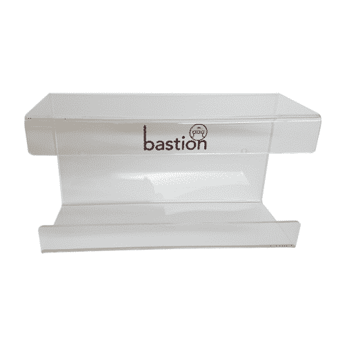 Glove Dispenser Acrylic Brackets, bastion dispenser, bastion glove dispenser, glove holder, acrylic glove dispenser,