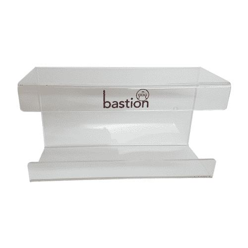Glove Dispenser Acrylic Brackets, bastion dispenser, bastion glove dispenser, glove holder, acrylic glove dispenser,