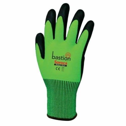 bastion soroca glove, bastion glove, green glove, oh&S gloves, safety gloves, workplace gloves