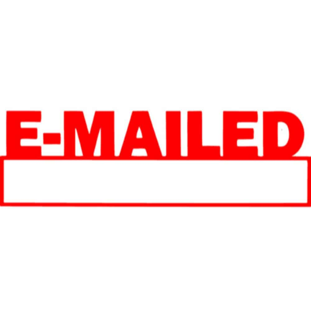 Preinked Stamp Office Emailed E Mailed Red