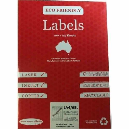 A4 labels, 65 labels per sheet, Address labels, Avery labels