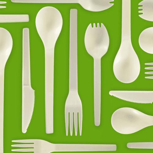 70pc BioPlastic Cutlery