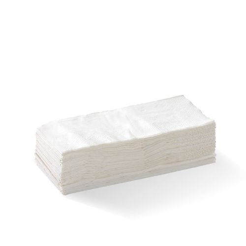 1 Ply 1/8 Fold White Lunch Napkin