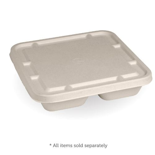 3-COMPARTMENT LARGE NATURAL TAKEAWAY BASE LID
