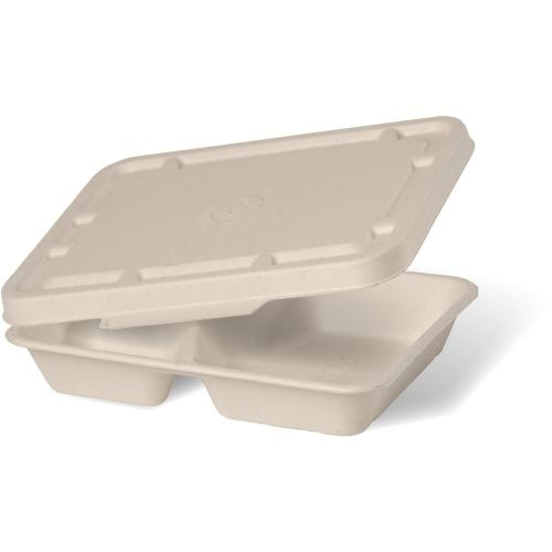 TWO & THREE COMPARTMENT NATURAL TAKEAWAY BASE LID