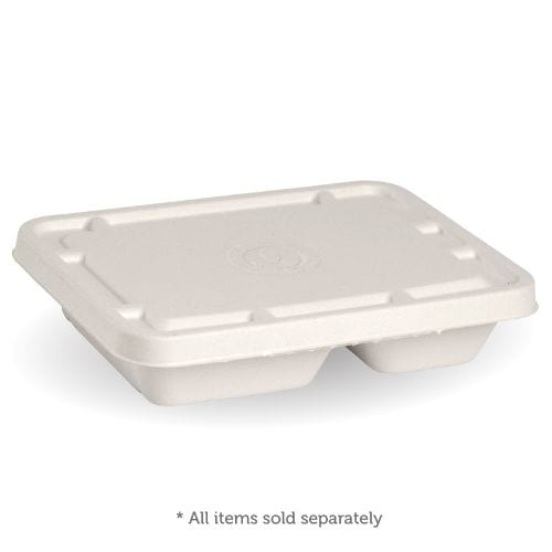 TWO & THREE COMPARTMENT WHITE TAKEAWAY BASE LID