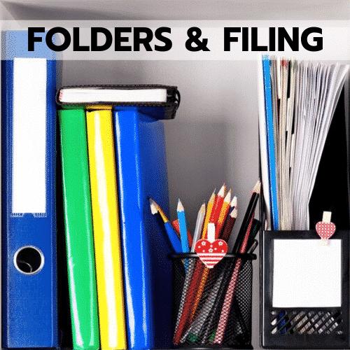 Folders & Filing