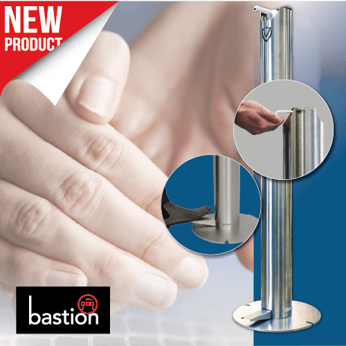 Bastion Sanitiser Dispenser Bollard